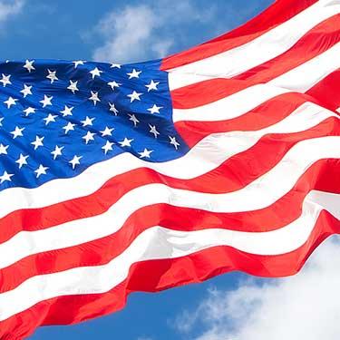 american flag cross border