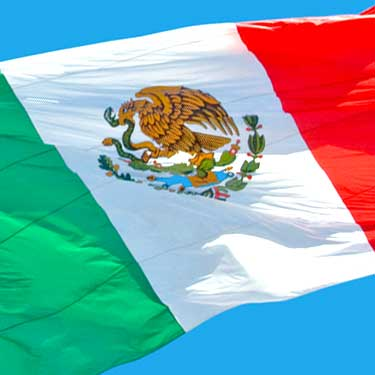 mexican flag cross border