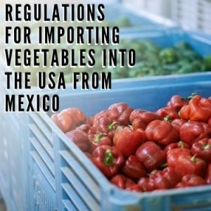 regulations for importing vegetables into the USA from Mexico