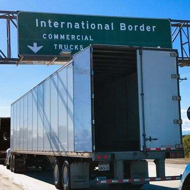 Freight Truck Inspection at Customs Border  Intra-Mexico Freight Shipping