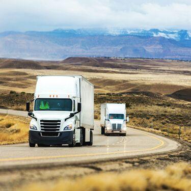 Santa Teresa Cross Border Shipping White Semi Freight Truck on Highway