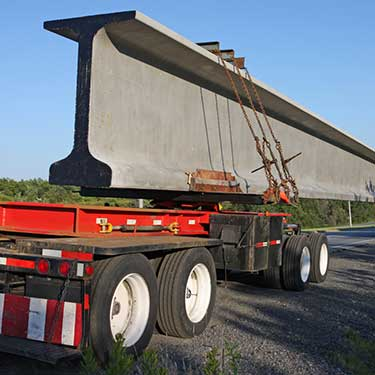 Transporte de maquinaria de pesadaremolque de plataforma