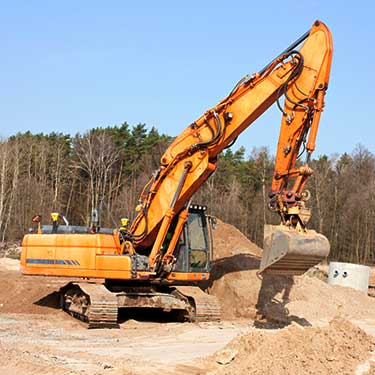 Transporte de maquinaria de pesada excavador