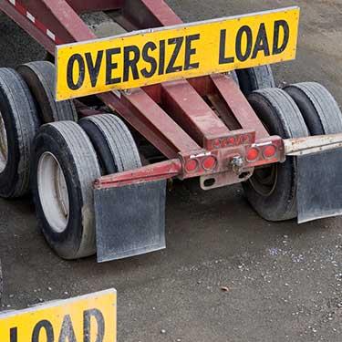 Transporte de maquinaria de pesada remolque de carga de gran tamaño