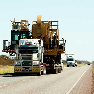 Transporte de maquinaria de pesada supercarga de transporte pesado